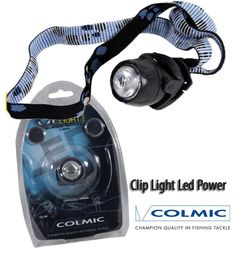 Lampada Led Frontale Colmic Clip 1000 Surfcasting