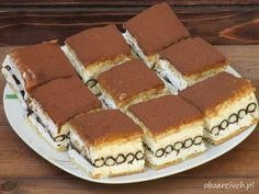 Obżarciuch: Ciasto z rurkami w 15 minut Polish Recipes, Polish Food, No Bake Desserts, Tiramisu, Food And Drink, Cookies, Lunch, Ethnic Recipes, Sweet