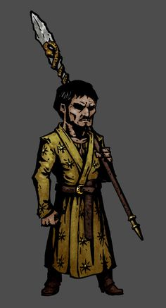 I'm obsessing a little bit over Darkest Dungeon and thought it would be cool to make a Game of Thrones series of drawings for it. First one is Oberyn Martell as a Hellion