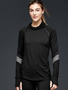 GapFit brushed jersey reflective pullover