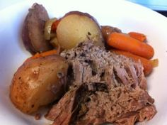 Pot Roast in the Crock Pot and more of the best clean eating crock pot recipes on MyNaturalFamily.com #cleaneating #recipe