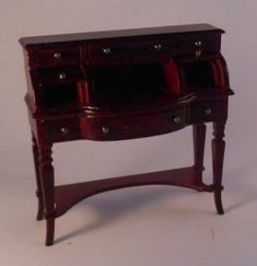 Ladies Desk by JMB Dollhouse Furniture, Dollhouse Interiors, House Rooms, Picture Wall, Decorative Items, Miniatures, Room Decor, Mini Mini, Desk