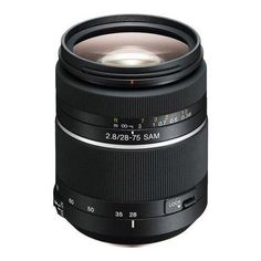 With its precision optics compact size and wide 75 degree angle of view the SAL2875 wide-angle lens is an excellent choice for sharp high-contrast shots when you're working indoors with people in ...