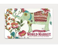 Win a $50 Cost Plus World Market Gift Card, 5 winners
