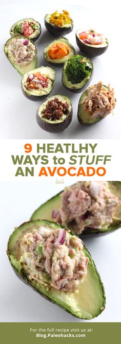 Love avocados? You'll love stuffed avocados even more. This roundup will give you 9 different recipes and ways to fill your avocados with even more nutritious food!