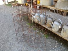 heaths old wares collectable industrial antiques, 12 station st bangalow nsw 2479 ph 66872222 vintage wire plant stands for sale Byron Bay, Industrial, Plant Stands, Patio, Antiques, Garden, Outdoor Decor, Plants, Broadway