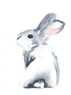 « Moon Rabbit I » par Denise Faulkner