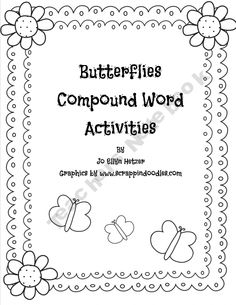 Butterfly compound Word FREEBIE