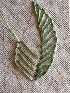 Marvelous Crewel Embroidery Long Short Soft Shading In Colors Ideas. Enchanting Crewel Embroidery Long Short Soft Shading In Colors Ideas. Embroidery Leaf, Embroidery Stitches Tutorial, Simple Embroidery, Embroidery Transfers, Learn Embroidery, Sewing Stitches, Embroidery Patterns Free, Silk Ribbon Embroidery, Vintage Embroidery