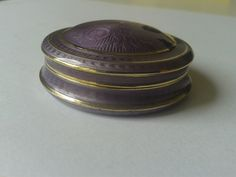 Small guilloche enamel silver box by David Andersen from Norway. Former collection.