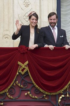 Princess Alexandra and hereditary Grand Duke Guillaume, waving the people for the Octave of Our Lady of Luxembourg