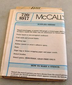 Never  Used Vintage McCalls Pattern 8917 by lovelylovedesigns, $5.99