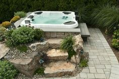spas help make picturesque backyards, outdoor living, spas, Hot Tub Hydrotherapy