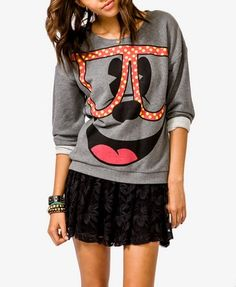 Polka Dot Mickey Mouse® Pullover | FOREVER 21 - 2000050047