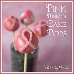 Pint Sized Baker: Pink Ribbon Cake Pops