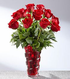 Order Same Day Delivery on Romantic Gifts for Valentine's Day or any Other Special Occasion from Lunsford Flower Shop Inc in Blytheville, AR. Red Glass, Glass Vase, September Flowers, Red Rose Bouquet, Rose Arrangements, Valentines Flowers, Same Day Flower Delivery, Language Of Flowers, Flowers Delivered