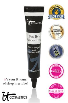 @IT Cosmetics By Jamie Kern  Bye Bye Under Eye Anti-Aginig Concealer won awards for best concealer from Second City Style, Totalbeauty.com. BestCovery, New Beauty and QVC Customer Choice. Also, the winner of Best Tool from Total Beauty. - $24