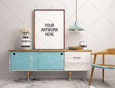 Poster Frame Mockup Industrial  by positvtplus on @creativemarket