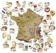 La carte de France des Fromages