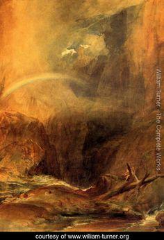 The Devils Bridge, St. Gothard - Joseph Mallord William Turner - www.william-turner.org