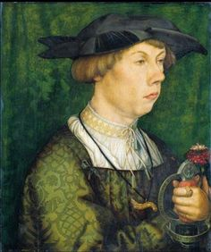 Portrait of a Member of the Weiss Family of Augsburg, 1522 - Hans Holbein the Elder Renaissance Portraits, Renaissance Paintings, Die Renaissance, Renaissance Costume, Städel Museum, 16th Century Fashion, Hans Holbein The Younger, Old Portraits, Landsknecht
