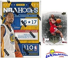 nice 2016/2017 Panini Hoops NBA Basketball HUGE Factory Sealed Blaster Box with 110 Cards & AUTOGRAPH or MEMORABILIA Card! Plus SPECIAL BONUS Michael Jordan Hall of Fame Card! ROOKIE & INSERT in EVERY Pack