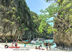 Phi Phi Island Tour - For the Most Incredible Experience Beautiful Vacation Spots, Most Beautiful Beaches, Best Honeymoon Destinations, Best Vacations, Best Places In Bangkok, Phi Phi Island, Island Tour, Phuket Thailand, Family Travel