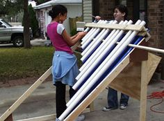 GREAT DIY instrument idea.. using this for my summer campers! Includes measurements for pvc!