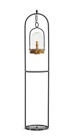 New Chinese style floor lamp【最灯饰】现代新中式鸟笼铜色低调落地灯