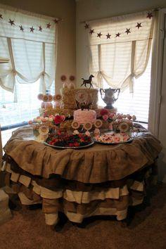 EK's vintage pony party table