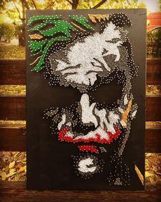 Articles similaires à Chaîne Art Joker Portrait sur Etsy - Make Up Art String Art Diy, String Crafts, String Art Templates, String Art Patterns, Joker Art, Make Up Art, Thread Art, Pin Art, Art Plastique