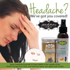 Headache coming on?  Grab JE's Headache Relief Kit!