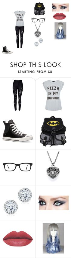 """""""Untitled #386"""" by nala1220 on Polyvore featuring Converse, Ray-Ban, Kobelli, women's clothing, women, female, woman, misses and juniors"""
