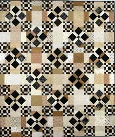Scrappy Nines Neutrals Quilt Kit - the colors and tones in this quilt really intrigue me