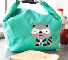 DIY Raccoon Lunchbox made with Cricut Iron-on. Make It Now in Cricut Design Space