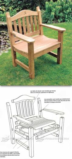 Outdoor Chair Plans - Outdoor Furniture Plans and Projects | WoodArchivist.com