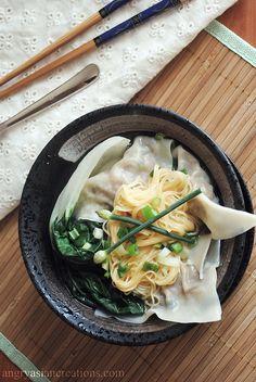 Wonton Noodle Soup by angryasiancreations #Soup #Noodle #Wonton