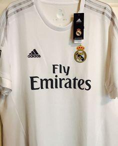 Adidas Emirates Jersey ClimaCool 2XL Real Madrid LFP Soccer Futbol Football   eBay