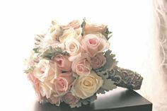 dusty pink rose bouquet