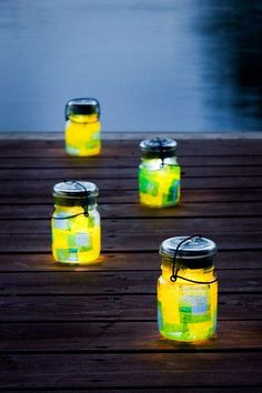 Solar Mason Jar with Yellow Glow and Color Change Option