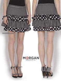 5536911eec7 Jupe courte femme · Morgan nous rappelle ici combien le vichy noir et blanc  reste un symbole très vintage de
