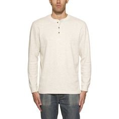 c123d5d3 Weatherproof® Vintage Men's Long Sleeve Thermal Henley-Oatmeal Thermal  Henley, Vintage Men,