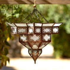 Amelle Moroccan Lantern ~ Hand-Crafted by artisans in Morocco via www.worldmarket.com #CRAFTBYWORLDMARKET