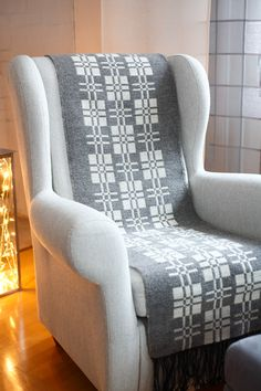 Wingback Chair, Armchair, Welsh Blanket, Weaving Patterns, Weaving Techniques, Hand Embroidery, Accent Chairs, Furniture, Home Decor