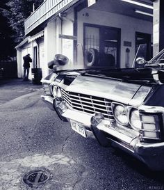 Dean's Impala from Supernatural. I WANT this car! 1967 Chevy Impala, 67 Impala, Supernatural Baby, Supernatural Impala, Winchester Boys, Two Brothers, Family Business, Superwholock, Best Shows Ever