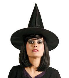 Hexenhut - schwarz | Kostüme | Halloween | Pink Dots - Partystore