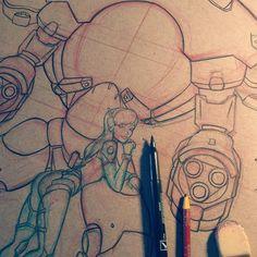 D. Va  #dva #overwatch #dvaoverwatch #fanart #pinup #sketch #drawing #inking #pencil