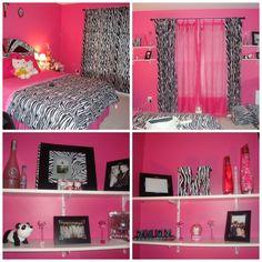 Pink zebra bedroom