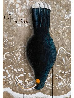 Huia by Leanne Culy Long White Cloud, Kiwiana, Art Forms, Old And New, New Art, New Zealand, Sculptures, Greeting Cards, Carving