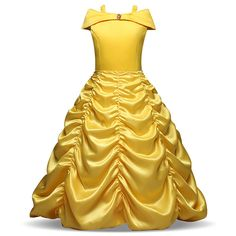 Enterlife Little Girls Belle Princess Costumes Layered Off Shoulder Princess  Disney Dress up Halloween    c19fb83ce6b